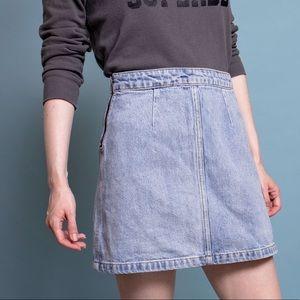Aritzia Wilfred Free high waist denim mini skirt